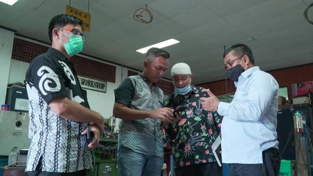 Baznas Kota Padang kunjungi ITP dalam rangka pembuatan tempat cuci tangan
