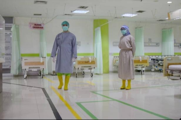 Tampilan dalam ruangan IGD SPH yang membedakan jalur pasien COVID-19 dengan pasien biasa lainnya
