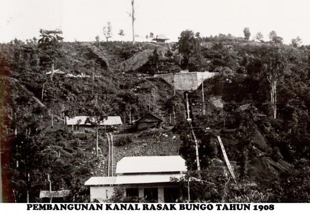 Pembangunan PLTA Rasak Bungo (dokumen Humas PT Semen Padang)