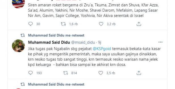 tweet Said Didu