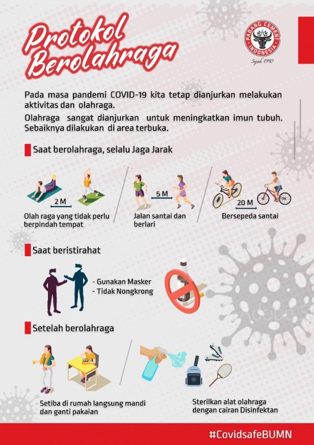 Prokol berolahraga di Semen Padang