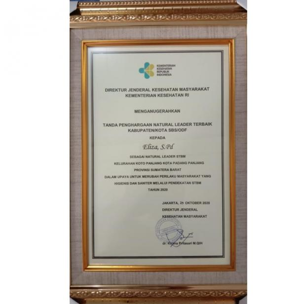 Penghargaan Sanitasi Total Berbasis Masyarakat (STBM) Award tahun 2020