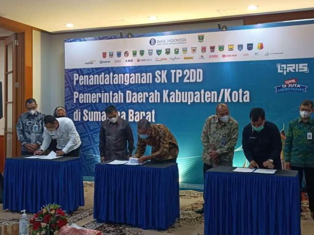 Walikota Payakumbuh Lakukan Penandatanganan TP2DD Bersama Perwakilan BI Sumbar