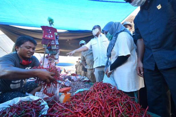 Andre Rosiade mendatangi Pasar Sungai Rumbai, Kabupaten Dharmasraya.
