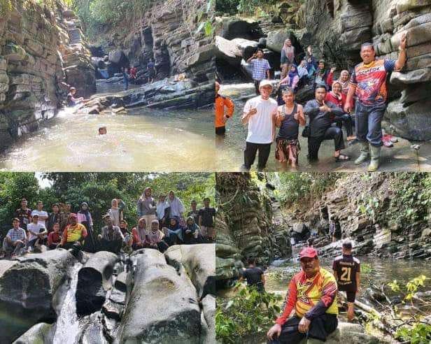 Daliyus dilokasi destinasi wisata batu lipek kain
