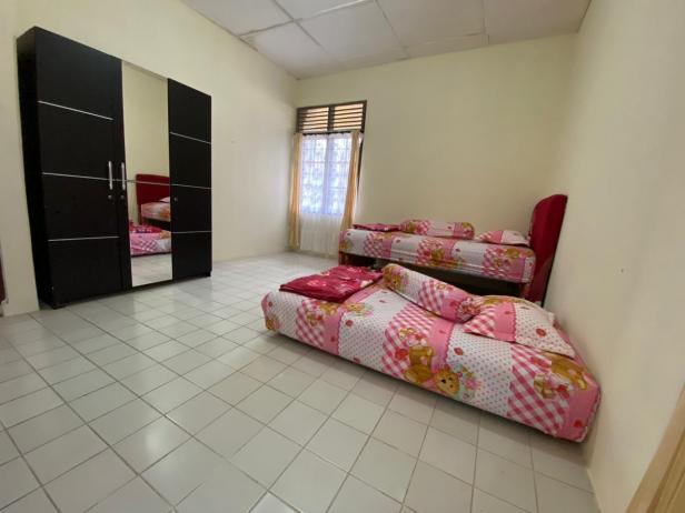 Salah satu penampakan kamar di Rumah Singgah Yayasan Semen Padang