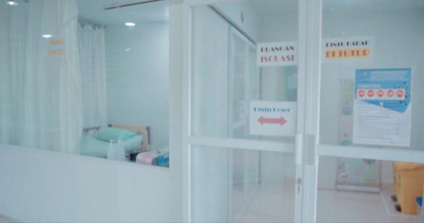 Ruang Isolasi pasien COVID-19 di SPH