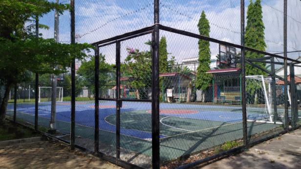 Lapangan basket kampus STMIK Indonesia Padang