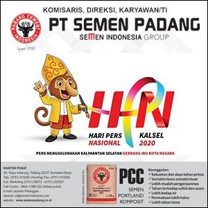 PT Semen Padang mengucapkan selamat Hari Pers Nasional (HPN) ke-74