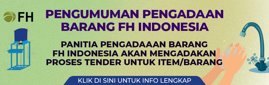 Pengumuman Pengadaan Barang FH Indonesia (D)
