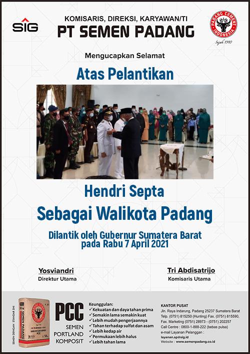 Semen Padang - Pelantikan Hendri Septa Wako Padang M