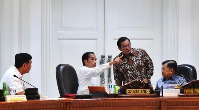 Rapat terbatas yang digelar Presiden Jokowi beberapa waktu lalu.