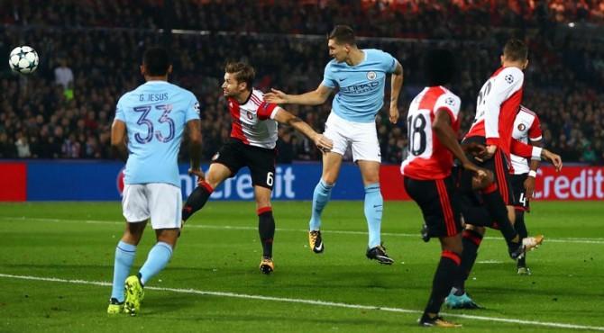 Josh Stone pencetak dua gol Manchester City ke gawang Feyenoord.