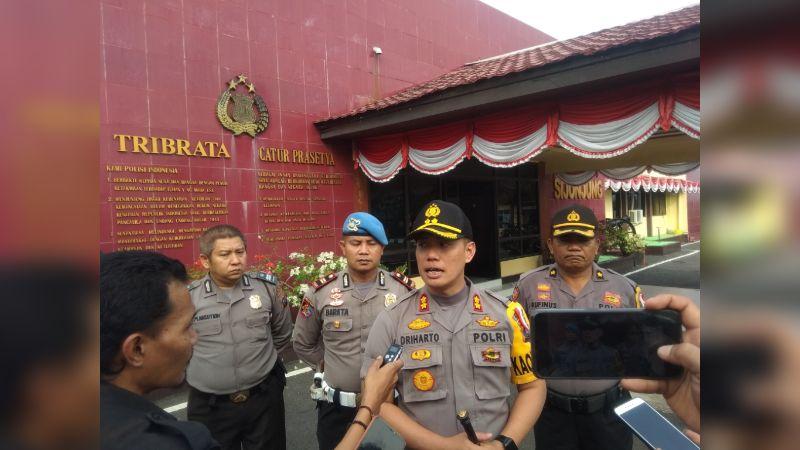 Kapolres Sijunjung AKBP Driharto di Mapolres Sijunjung, Senin 2 September 2019