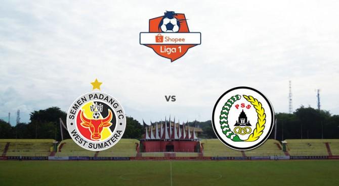 Semen Padang FC kontra PS Sleman.