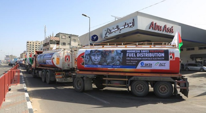Indonesia Save Palestine, Fuel Distribution for Palestinian Hospital