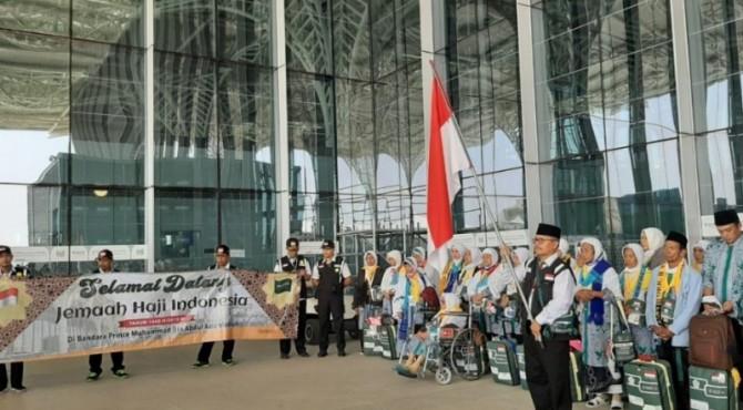 Jemaah haji Indonesia tiba di Indonesia