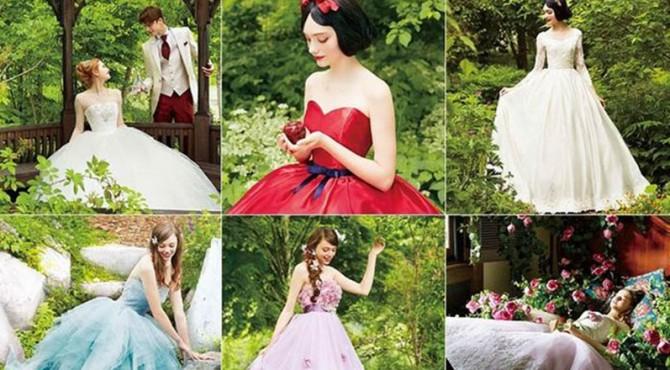 Gaun pengantin Disney.