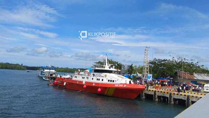 Kapal Basarnas sedang bersandar di pelabuhan Tua Pejat, Mentawai/Ilustrasi