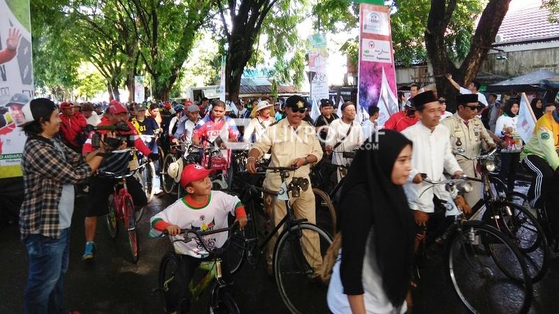 Antusias Peserta Gowes Nusantara 2019, Minggu, 31 Maret 2019 di Gor Haji Agus Salim Padang