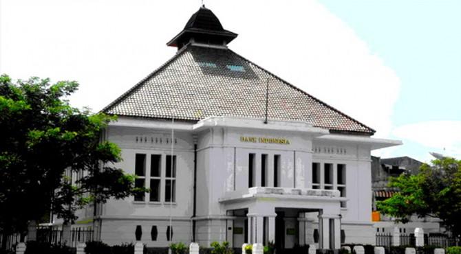 Salah satu bangunan tua milik Bank Indonesia di kawasan Pondok, Kota Padang.