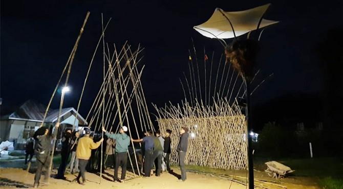Persiapan Sentak Arts Festival.