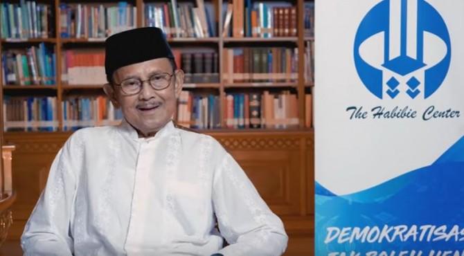Presiden ke-3 RI Prof. Dr. Ing. BJ. Habibie sebagaimana diunggah oleh The Habibie Center di YouTube, Minggu (19/5).