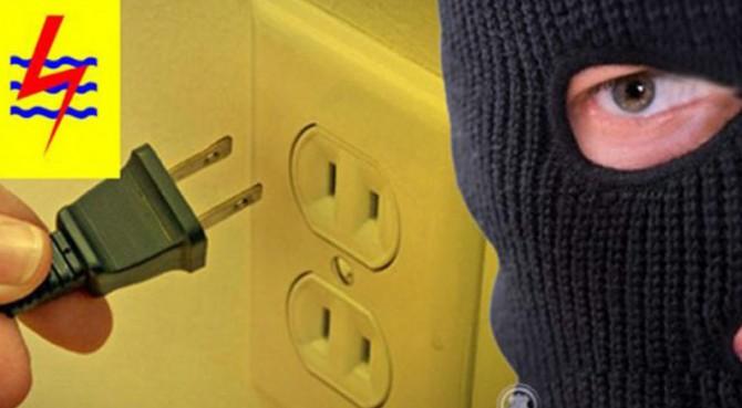 Ilustrasi pencurian listrik.