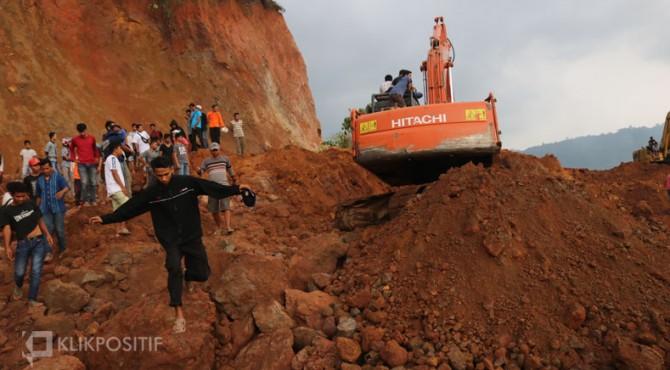 Lokasi penambangan tanah clay di Gunuang Sariak Padang