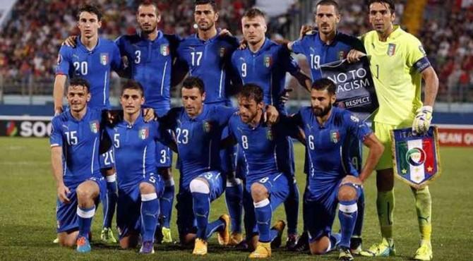 Skuat timnas Italia pada helatan Euro 2016 lalu.