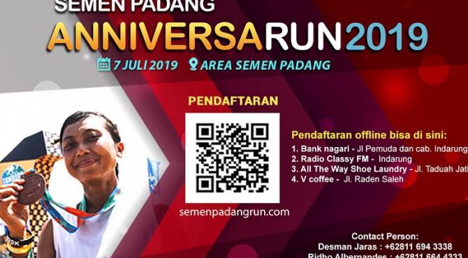 Kegiatan ini akan dilaksanakan pada 7 Juli 2019 dengan start dan finish di Plaza Kantor Pusat PT Semen Padang.
