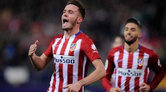 Saul Niguez  mencetak satu gol tandang bagi Atletico Madrid