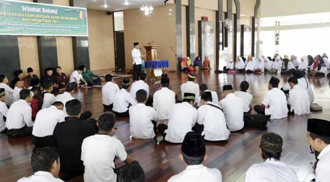 Pembekalan bagi 128 Penyuluh Agama Islam (PAI) khusus jelang diterjunkan ke masyarakat.