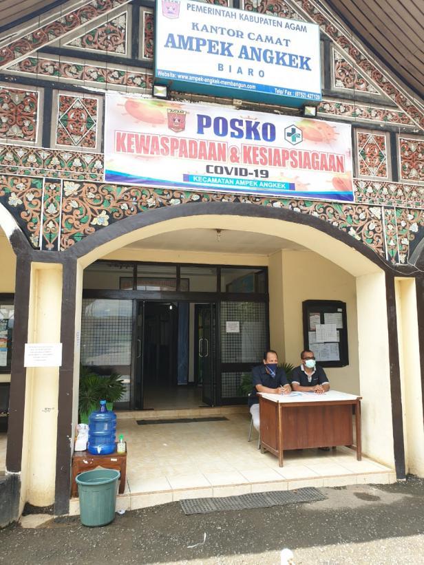 Posko Siaga COVID-19 Kecamatan Ampek Angkek