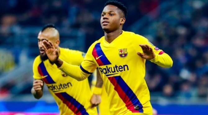 Ansu Fati cetak gol kemenangan Barcelona atas Inter Milan