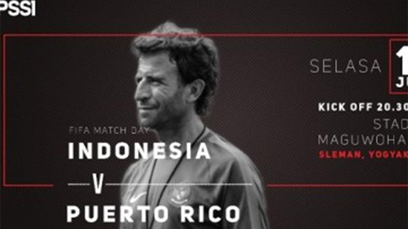 laga persahabatan Indonesia Vs Puerto Rico