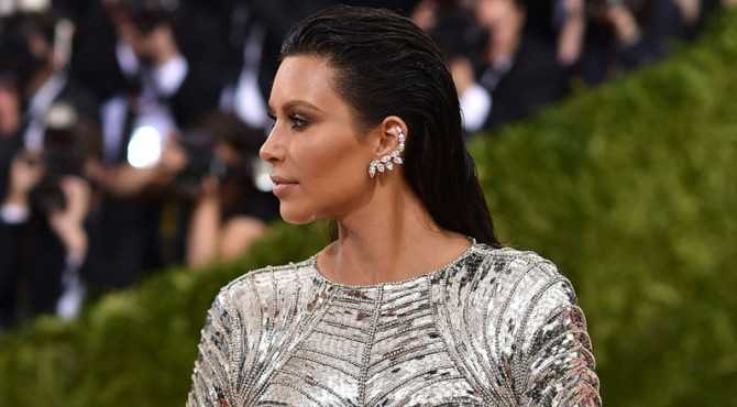 Kim Kardashian di Met Gala 2016.