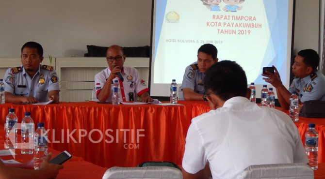 Rapat koordinasi Tim Pora tingkat Kota Payakumbuh.