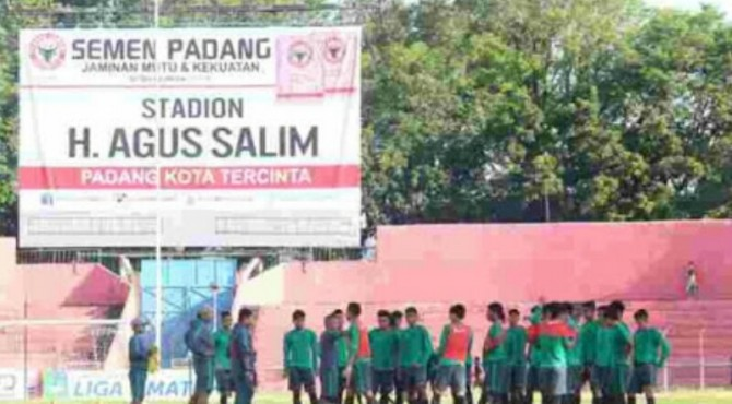 Timnas U-19 Latihan di Stadion H Agus Salim