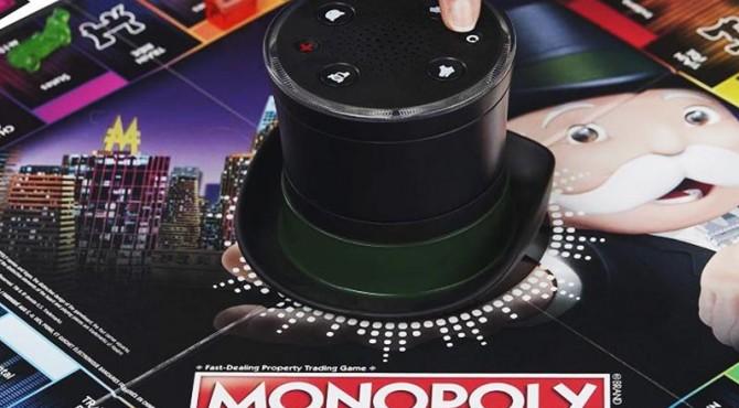 Tampilan monopoli dengan asisten suara.