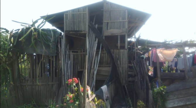 Kondisi rumah warga yang mendapat bantuan rehab rumah tidak layak huni di kota Solok