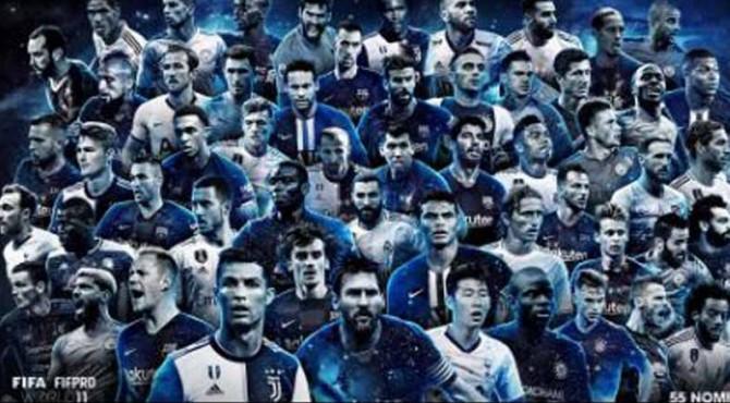 55 Nominasi FIFPro World XI 2019