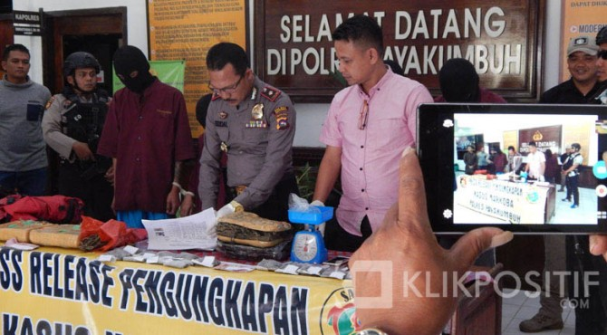 Press release penangkapan narkoba oleh Polres Kota Payakumbuh.