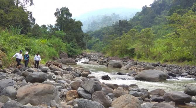 Kekeringan hulu sungai di Padang