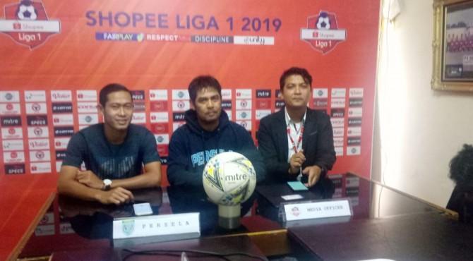 Technical meeting Semen Padang FC kontra Persela Lamongan.