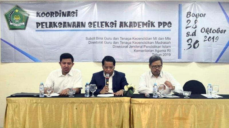 Koordinasi Pelaksanaan Seleksi Akademik PPG yang dilaksanakan oleh Kemenag