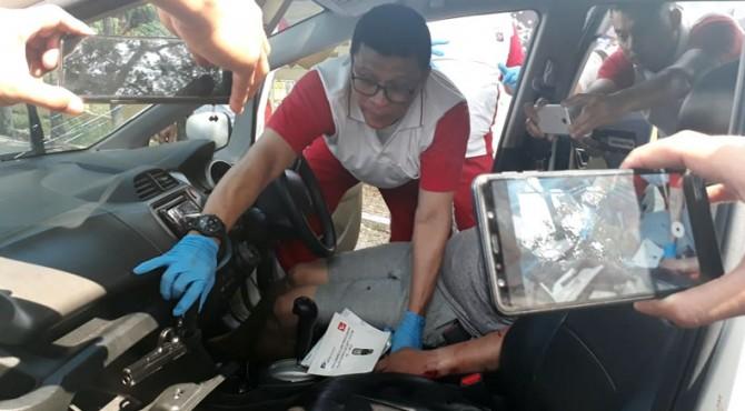 Polisi menemukan senpi dalam mobil yang digunakan pengedar narkoba