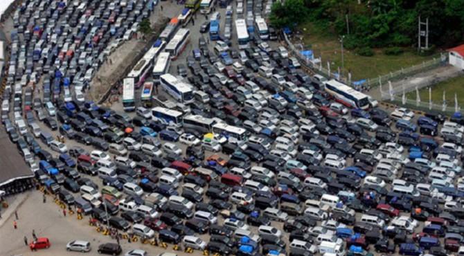 Kemacetan saat mudik.