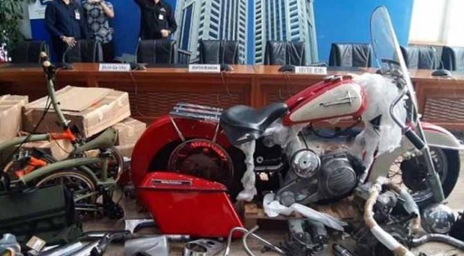 penyelundupan barang mewah Harley Davidson