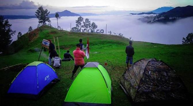 Suasana Buper Guak Lago saat matahari terbit